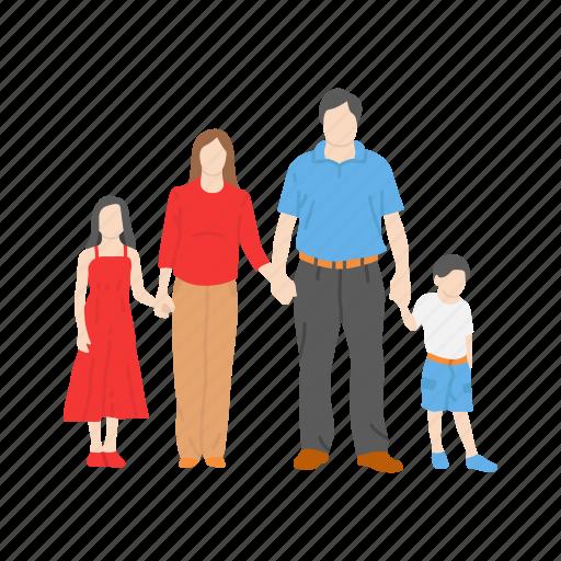 family, happy family, kids, parents icon