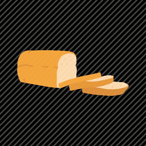 bread, grain, loaf, wheat bread icon