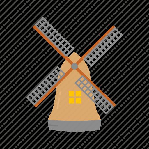 dutch, wind, wind turbine, windmill icon
