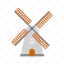 dutch, wind, wind turbine, windmill icon