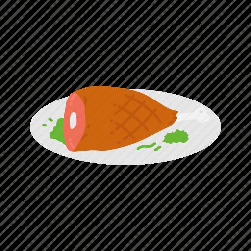 chicken, dinner, ham, ham bone icon