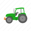 big tractor, farm, john deere, truck icon