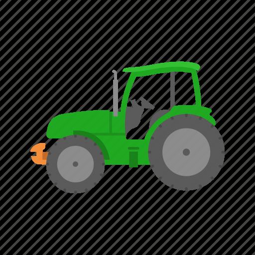 big tractor, farm, john deere, truck icon