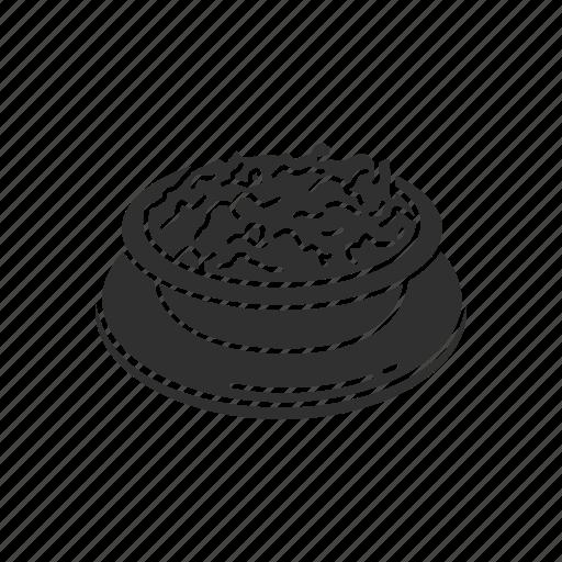 bowl of stuffing, mashed potatoes, potatoes, soup icon