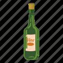 alcohol, bar, beverage, bottle of wine, cartoon, cocktail, drink