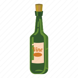 alcohol, bar, beverage, bottle of wine, cartoon, cocktail, drink icon