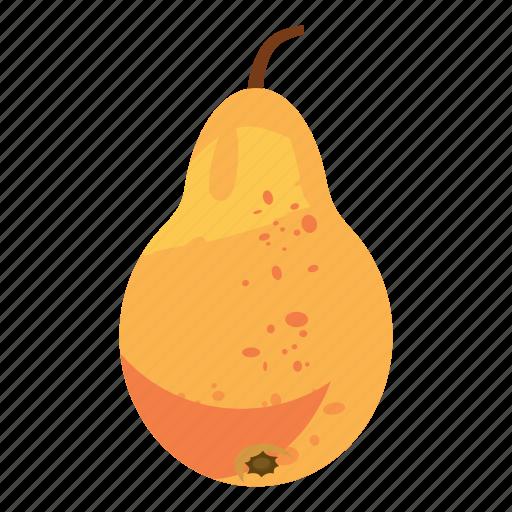 cartoon, colorful, food, fresh, garden, healthy, pear icon