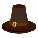brown hat, cartoon, creepy, decoration, fun, halloween, holiday icon