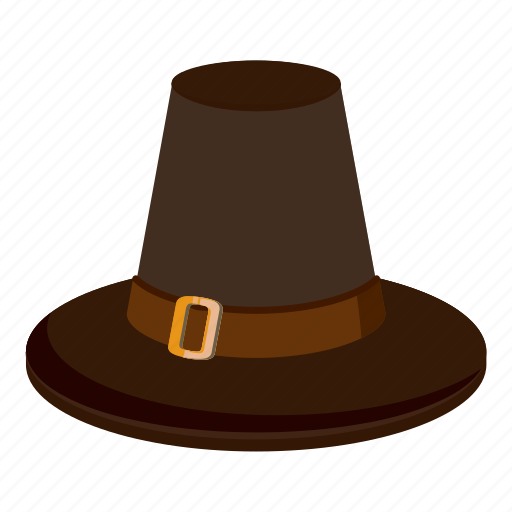 brown hat, cartoon, creepy, decoration, fun, halloween, holiday icon