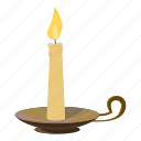 candle, cartoon, christmas, flame, light, logo, wax icon