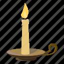 candle, cartoon, christmas, flame, light, logo, wax