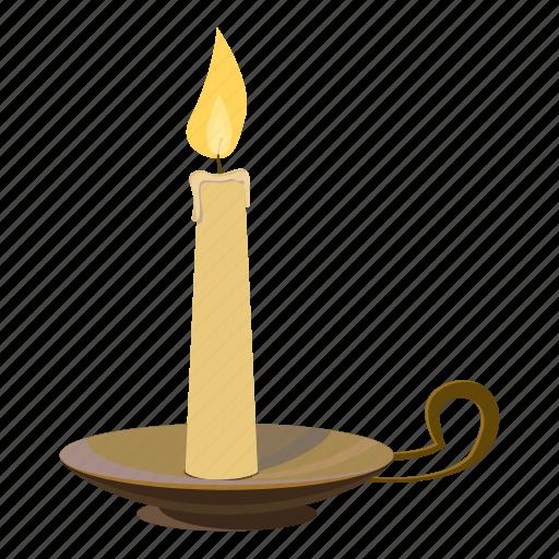 candle, cartoon, christmas, flame, light, logo, wax icon