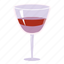 alcohol, bar, beverage, cartoon, cocktail, drink, glass of wine icon