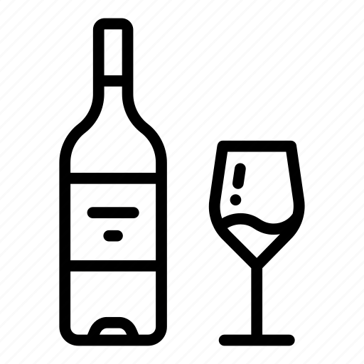 alcohol, bottle, glass, grapes, party, thanksgiving day, wine icon