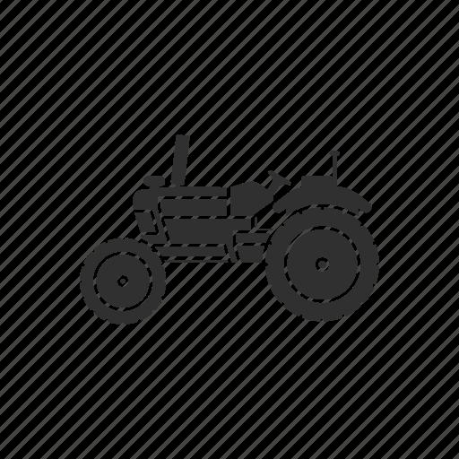 crops, farming, old tractor, tractor icon