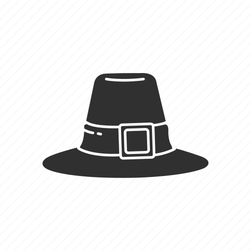 hat, hat with buckle, pilgrim, pilgrim hat icon