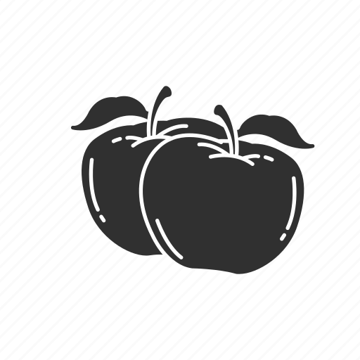 apple, fruit, healthy, red apple icon