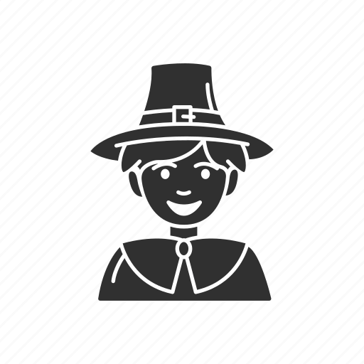 american settler, boy, boy pilgrim, pilgrim icon