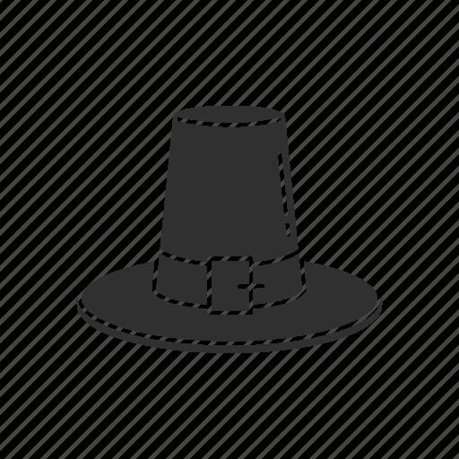 hat, pilgrim, pilgrim hat, thanksgiving icon