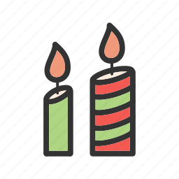 candle, candle light, decoration, fire, lamp, party icon