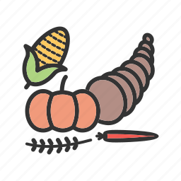 corn, cornocupia, crop, food, fresh, harvest, vegetables icon
