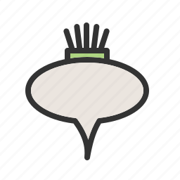 beetroot, food, fresh, green, organic, root, vegetarian icon