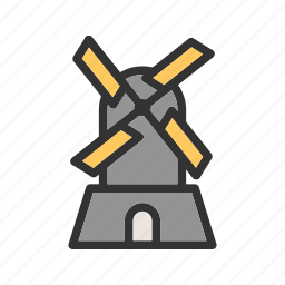 farm, mill, power, turbine, wind, windfarm, windmill icon