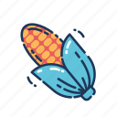 corn, food, healthy, thanksgiving, vegetable icon