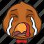 cartoon, emoji, holiday, smiley, thanksgiving, turkey icon