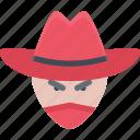bandit, male, man, avatar, user, people, human icon