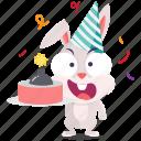 bunny, emoji, emoticon, prank, smiley, sticker icon
