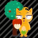 cat, emoji, emoticon, eve, garden, smiley, sticker icon