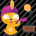 cat, emoji, emoticon, flute, lightbulb, smiley, sticker icon