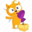 cat, emoji, emoticon, prank, smiley, sticker icon