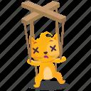 cat, emoji, emoticon, puppet, smiley, sticker icon