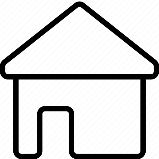 essentials, home, house, outline icon
