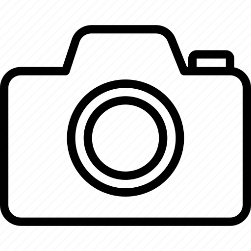 camera, essentials, gallery, outline, photos icon