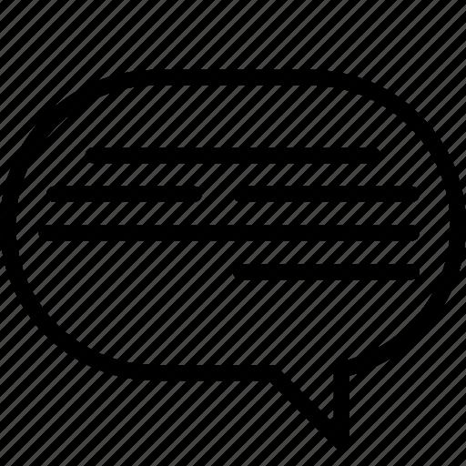 active, bubble, chat, essentials, outline, speech icon