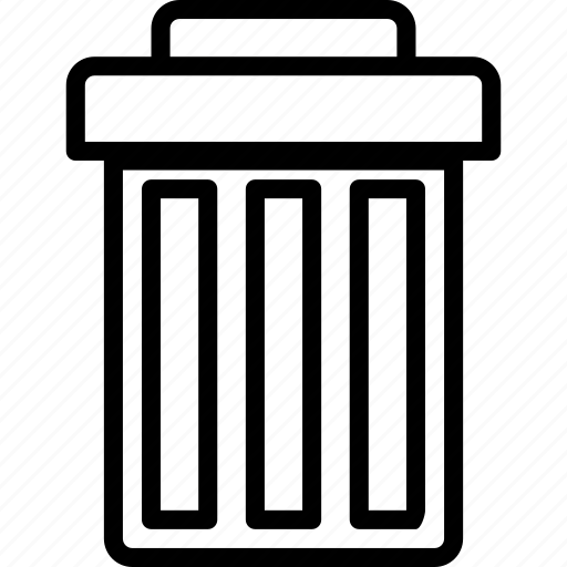 bin, essentials, outline, recycle, rubbish, trash icon