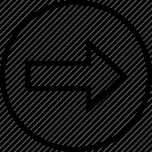 arrow, essentials, forward, outline, right icon