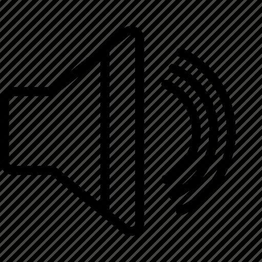 Essentials, full, outline, sound, volume icon - Download on Iconfinder
