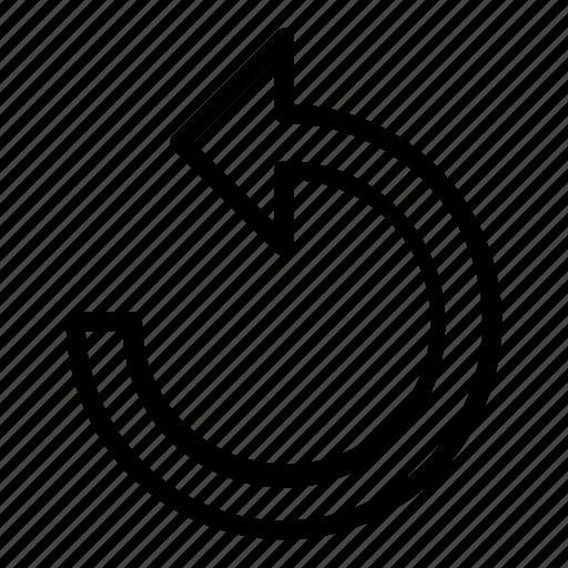 Back, essentials, outline, refresh, reload icon - Download on Iconfinder