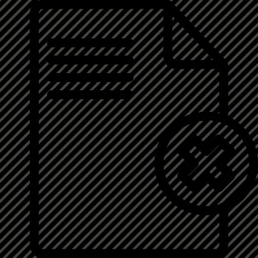 delete, document, essentials, file, outline icon