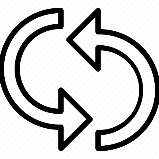 essentials, outline, refresh, reload icon