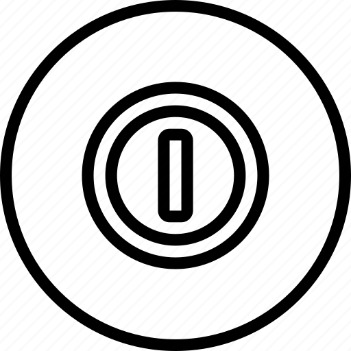 Essentials, on, outline, power icon - Download on Iconfinder