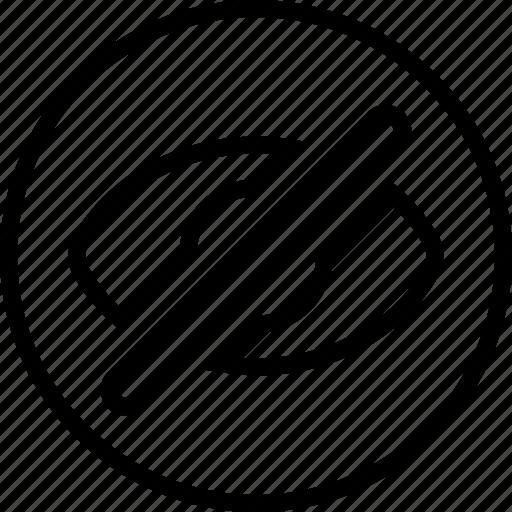Delete, essentials, hide, outline icon - Download on Iconfinder