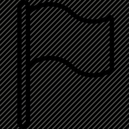 Attention, essentials, flag, outline icon - Download on Iconfinder