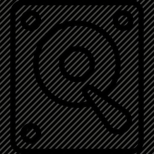 Data, drive, essentials, hard, outline icon - Download on Iconfinder