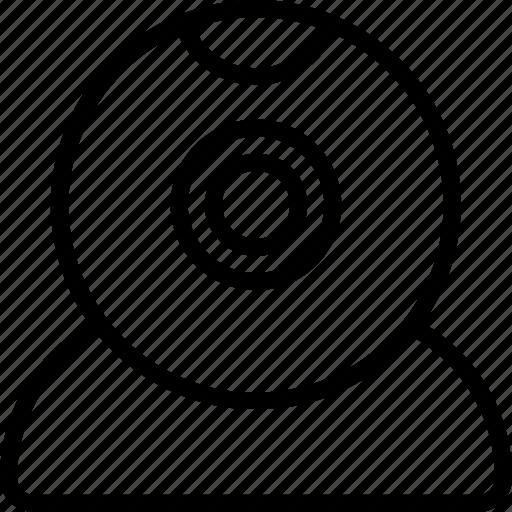 camera, essentials, outline, webcam icon