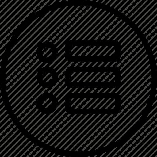 essentials, menu, more, notes, outline icon